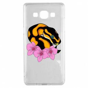 Etui na Samsung A5 2015 Snake in flowers