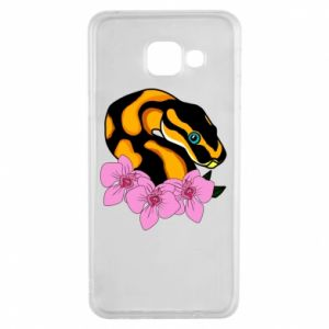 Etui na Samsung A3 2016 Snake in flowers