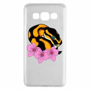 Etui na Samsung A3 2015 Snake in flowers
