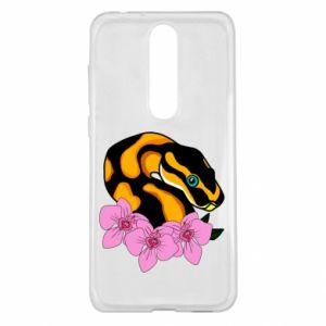Etui na Nokia 5.1 Plus Snake in flowers
