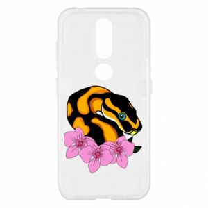 Etui na Nokia 4.2 Snake in flowers
