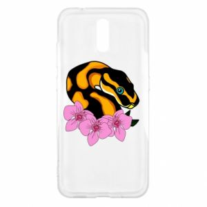 Etui na Nokia 2.3 Snake in flowers