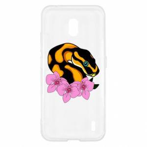 Etui na Nokia 2.2 Snake in flowers