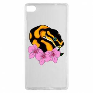 Etui na Huawei P8 Snake in flowers