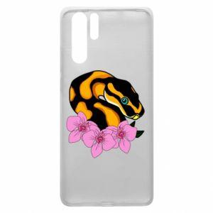 Etui na Huawei P30 Pro Snake in flowers