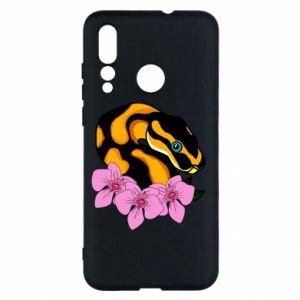 Etui na Huawei Nova 4 Snake in flowers