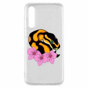 Etui na Huawei P20 Pro Snake in flowers