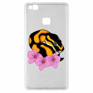 Etui na Huawei P9 Lite Snake in flowers