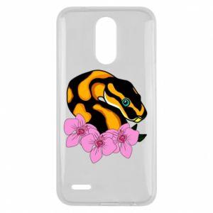 Etui na Lg K10 2017 Snake in flowers