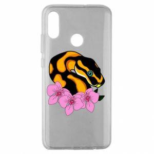 Etui na Huawei Honor 10 Lite Snake in flowers