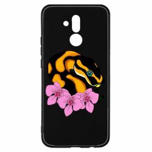 Etui na Huawei Mate 20 Lite Snake in flowers