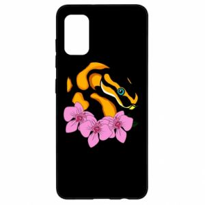 Etui na Samsung A41 Snake in flowers