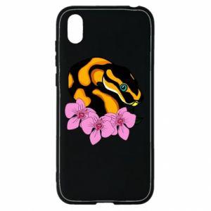Etui na Huawei Y5 2019 Snake in flowers