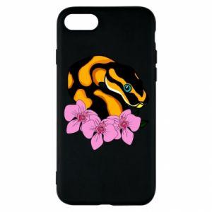 Etui na iPhone SE 2020 Snake in flowers