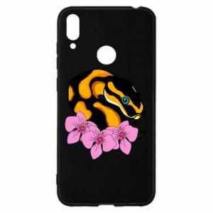 Etui na Huawei Y7 2019 Snake in flowers