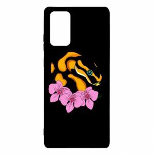 Etui na Samsung Note 20 Snake in flowers