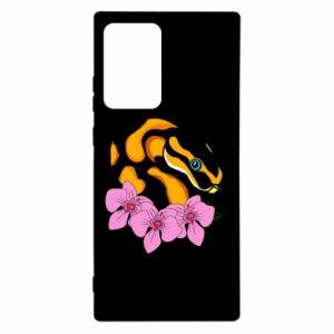 Etui na Samsung Note 20 Ultra Snake in flowers