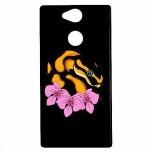 Etui na Sony Xperia XA2 Snake in flowers