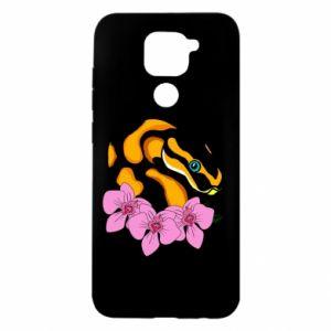 Xiaomi Redmi Note 9 / Redmi 10X case % print% Snake in flowers