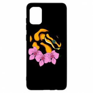 Etui na Samsung A31 Snake in flowers