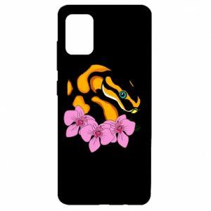 Etui na Samsung A51 Snake in flowers