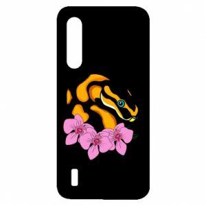 Etui na Xiaomi Mi9 Lite Snake in flowers