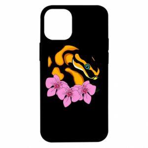 Etui na iPhone 12 Mini Snake in flowers