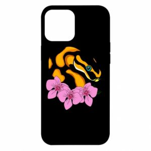 Etui na iPhone 12 Pro Max Snake in flowers