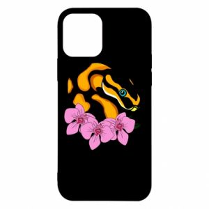 Etui na iPhone 12/12 Pro Snake in flowers