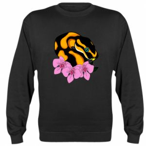 Bluza (raglan) Snake in flowers