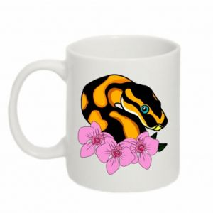 Kubek 330ml Snake in flowers