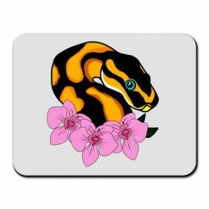 Podkładka pod mysz Snake in flowers