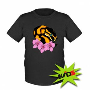 Kids T-shirt Snake in flowers