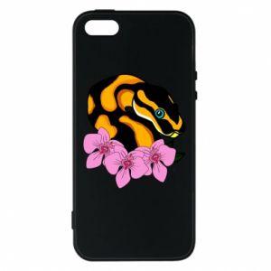 Etui na iPhone 5/5S/SE Snake in flowers