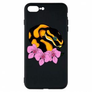 Etui do iPhone 7 Plus Snake in flowers