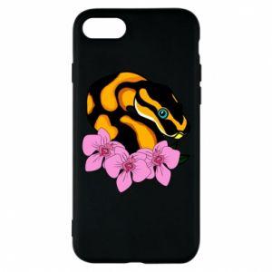 Etui na iPhone 8 Snake in flowers