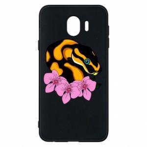 Etui na Samsung J4 Snake in flowers