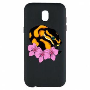 Etui na Samsung J5 2017 Snake in flowers
