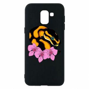 Etui na Samsung J6 Snake in flowers
