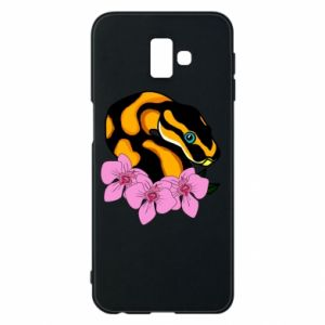 Etui na Samsung J6 Plus 2018 Snake in flowers
