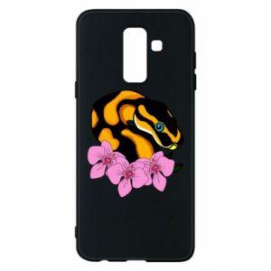 Etui na Samsung A6+ 2018 Snake in flowers