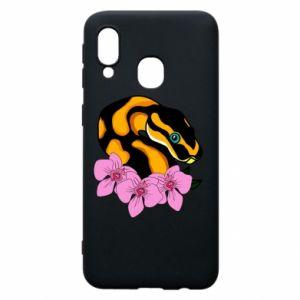 Etui na Samsung A40 Snake in flowers