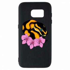 Etui na Samsung S7 Snake in flowers