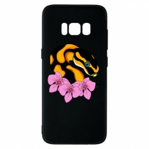 Etui na Samsung S8 Snake in flowers