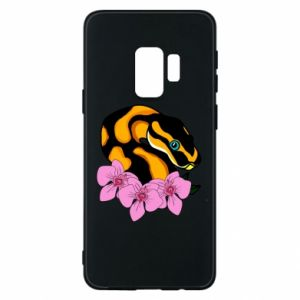 Etui na Samsung S9 Snake in flowers