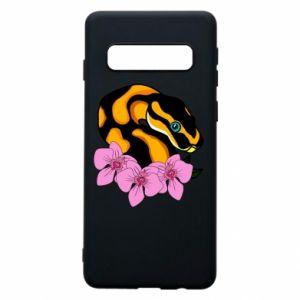 Etui na Samsung S10 Snake in flowers