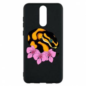 Etui na Huawei Mate 10 Lite Snake in flowers
