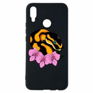 Etui na Huawei P Smart Plus Snake in flowers