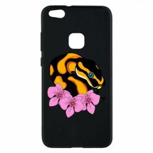 Etui na Huawei P10 Lite Snake in flowers
