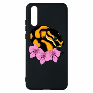 Etui na Huawei P20 Snake in flowers